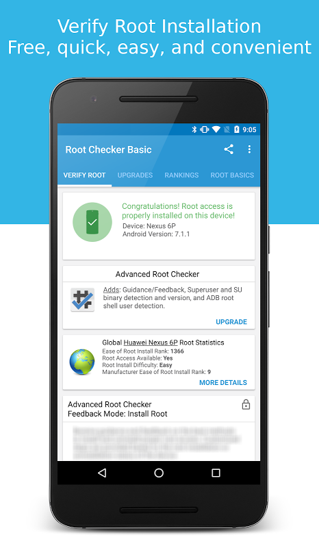 Root Checker 6.1.7 Screen 1
