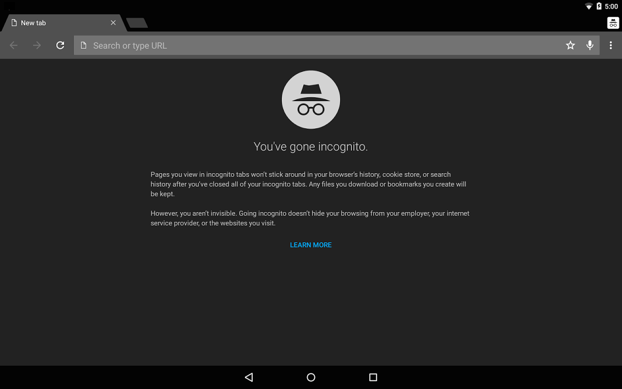 Android Chrome Canary (Unstable) Screen 1