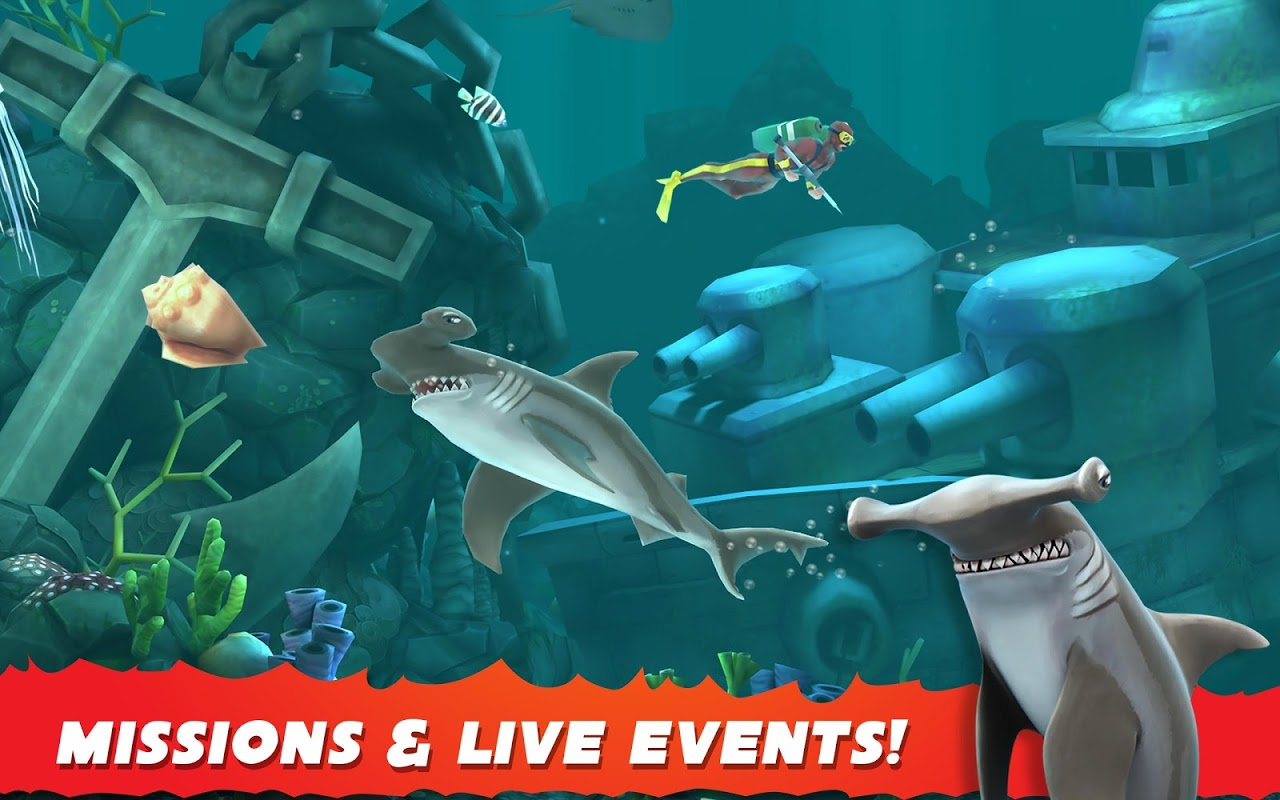 Android Hungry Shark Evolution (Mod) Screen 4