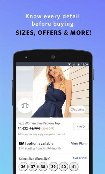 Android Myntra Online Shopping App Screen 7
