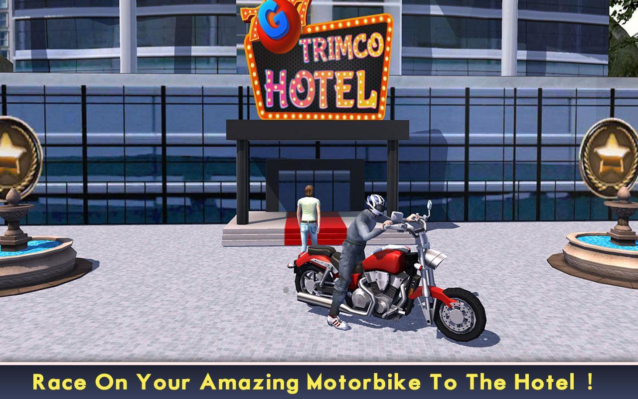 Android Power Racer City Moto Bike SIM Screen 1