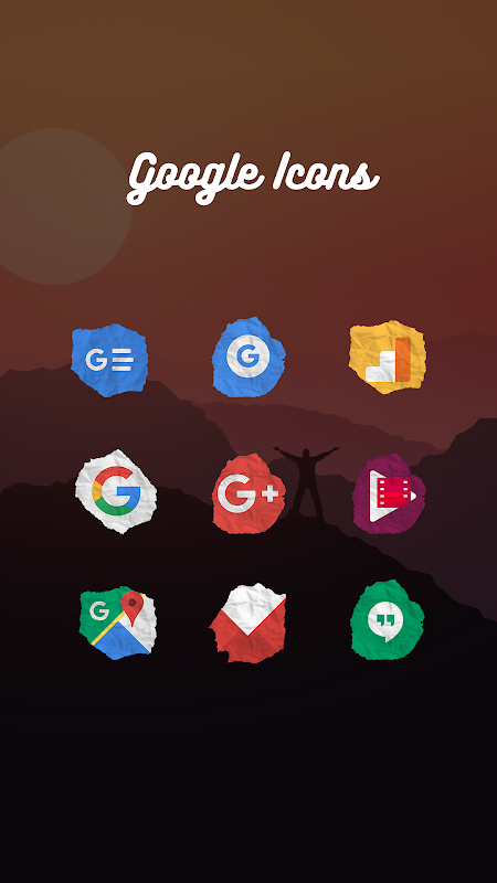 Icon Pack - Paper Shaped Original Icons 1.1.017 Screen 9