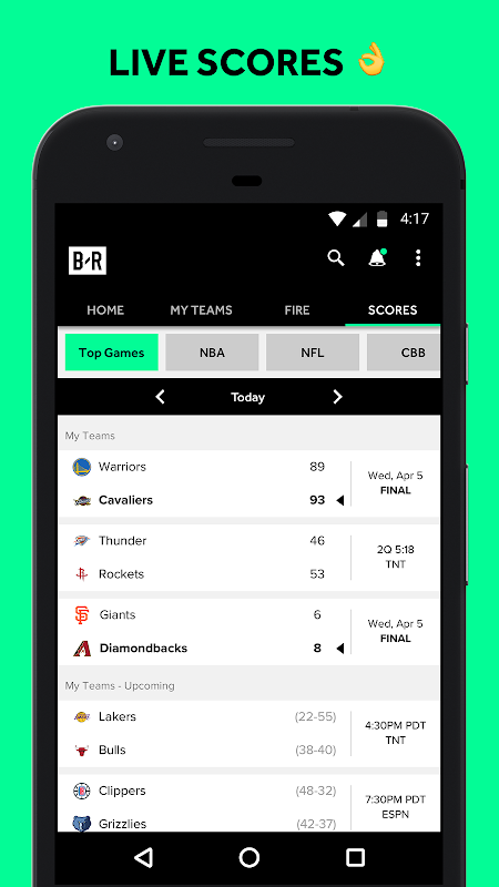 Android Bleacher Report Screen 8