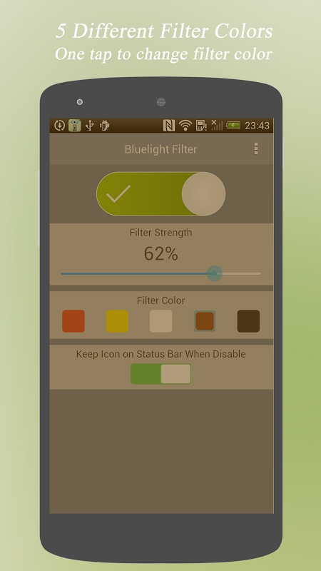 Android Bluelight Filter - Eye Care Screen 2
