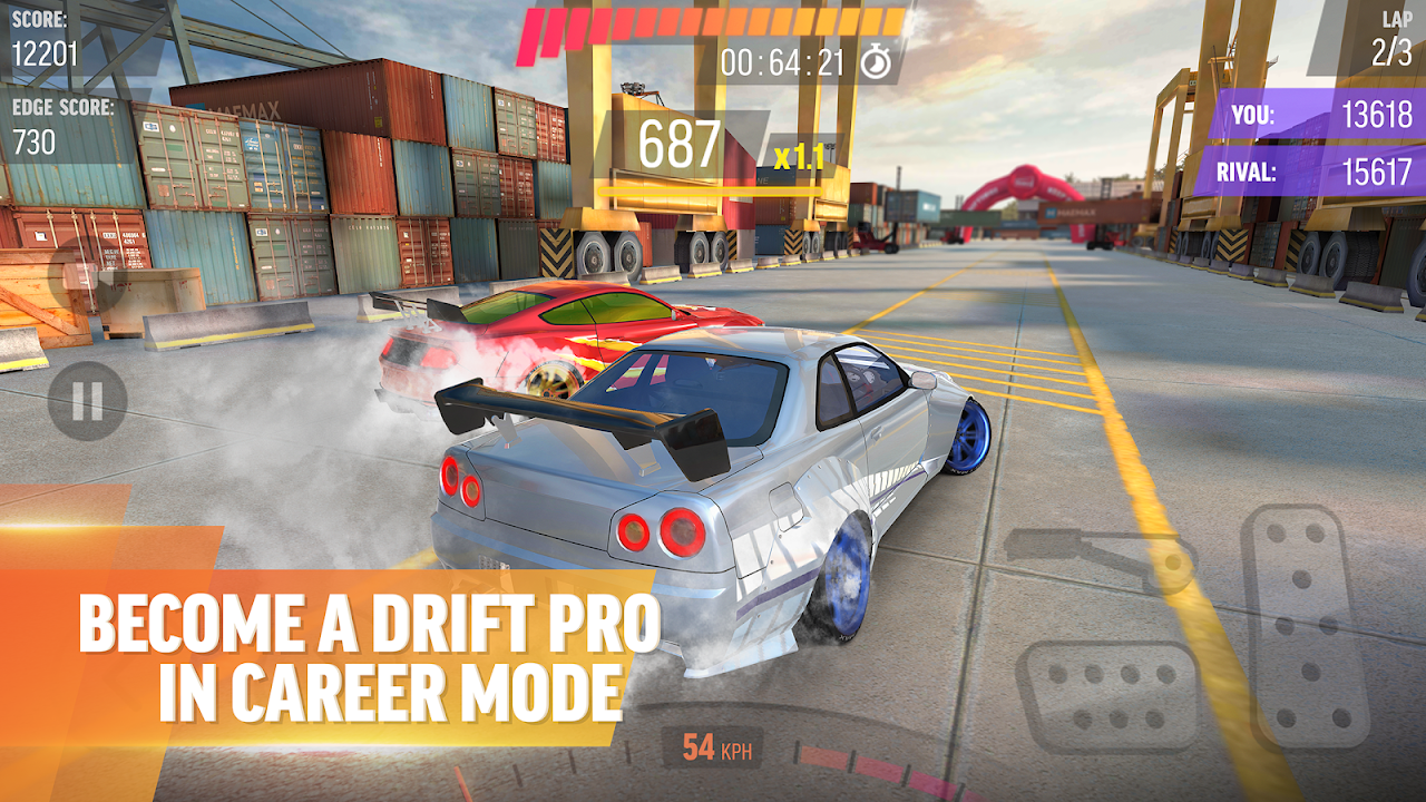 Android Drift Max Pro - Car Drifting Game with Racing Cars Screen 1