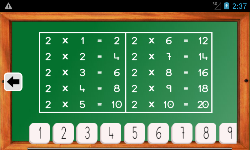 Android Maths Trainer Screen 4