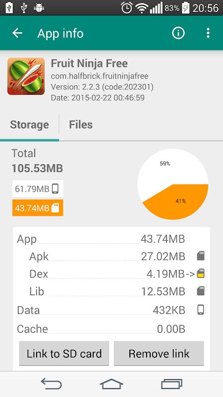 Link2SD 4.3.4 Screen 1