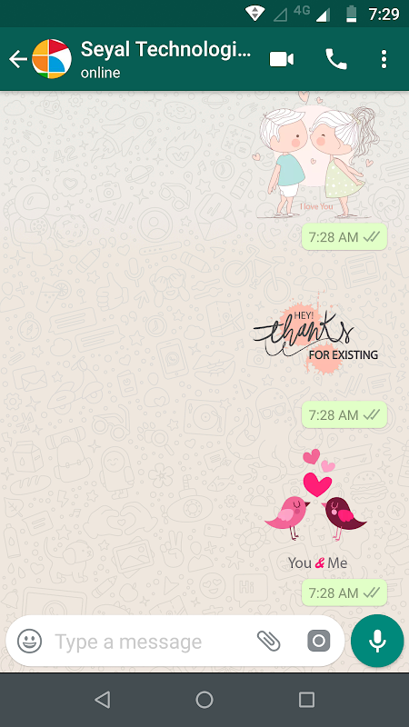 Android Love Stickers for WhatsApp Screen 1