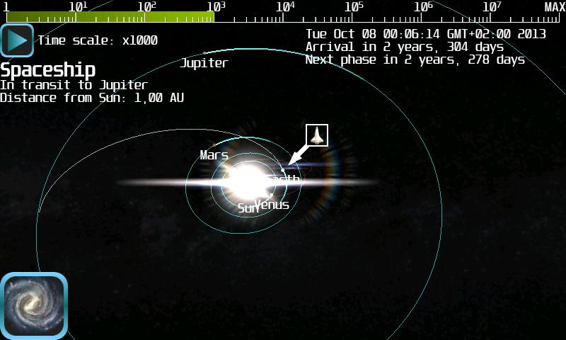 Android Space Flight Simulator Screen 4