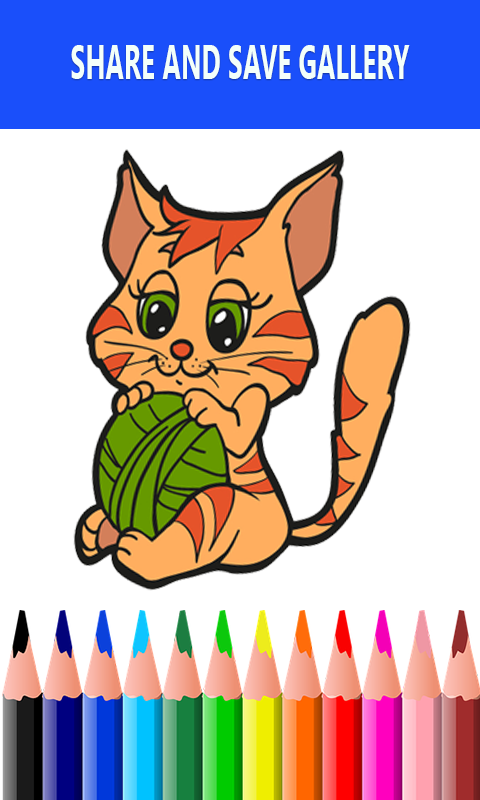 Android Cats Drawing and Coloring Book Screen 3