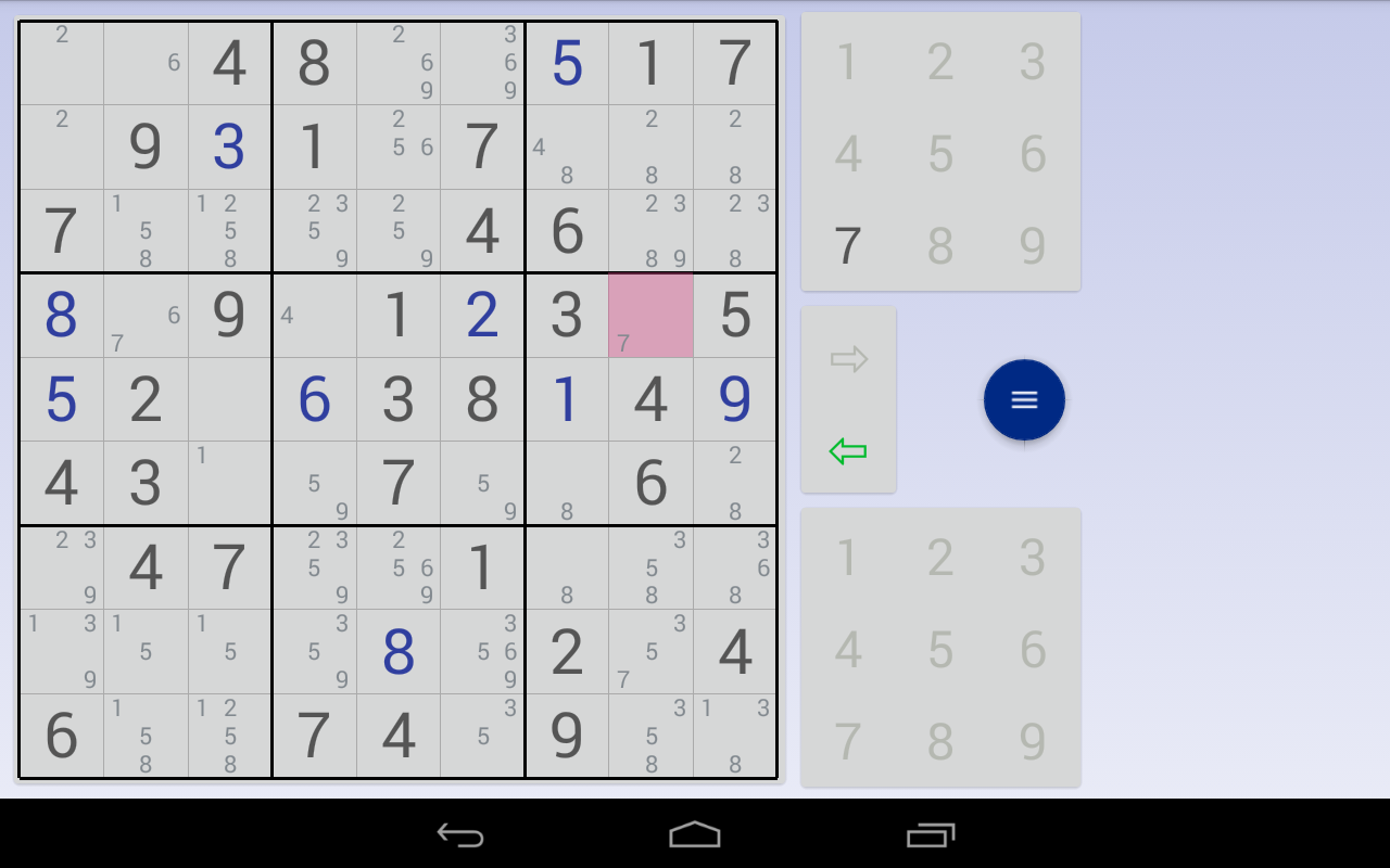Sudoku: 3 in 1 1.7.3 Screen 2