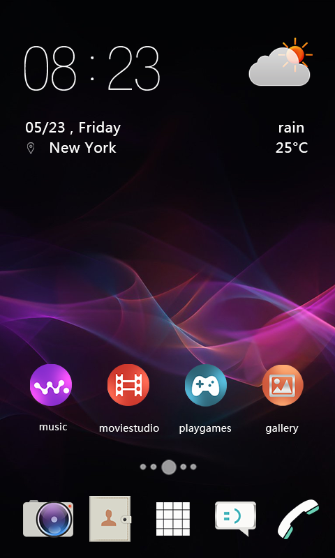 Android Xperia Theme Screen 2