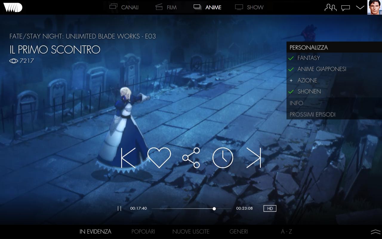 VVVVID 1.0.3 Screen 1