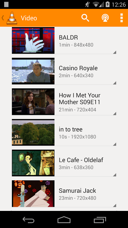 Android VLC for Android Beta Screen 7