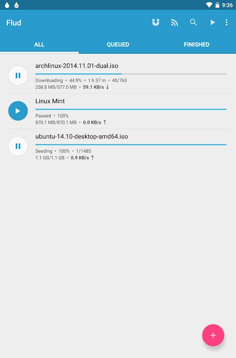 Flud - Torrent Downloader 1.6.6 Screen 1