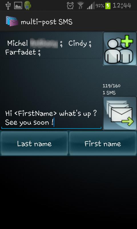 Multi-Post SMS 1.2 Screen 2