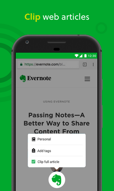 Android Evernote - stay organized. Screen 2