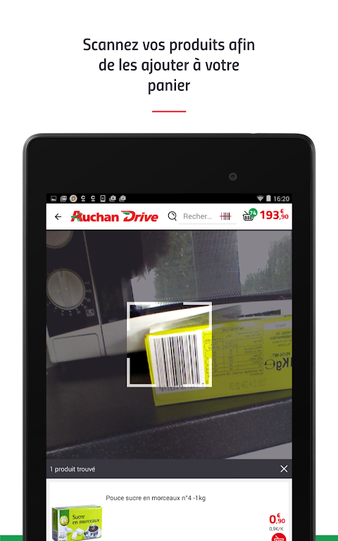 Android AuchanDrive - courses drive Screen 20