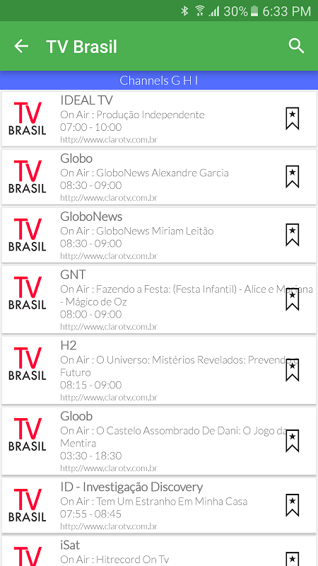 Brazil Live TV Guide APKs | Android APK
