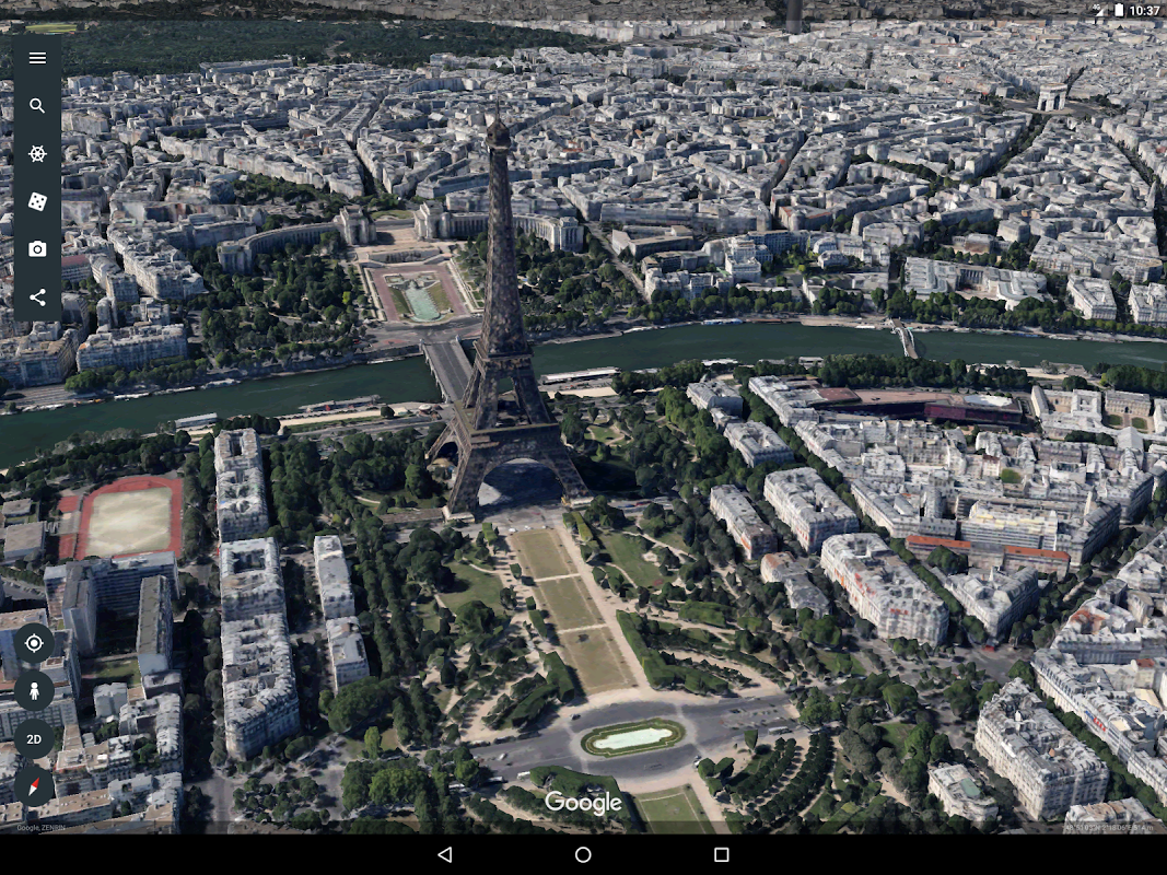 Android Google Earth Screen 5