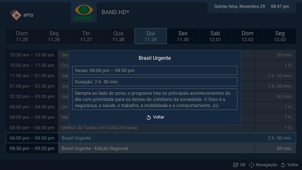 Android LIVE IPTV BR -  PRO Screen 6