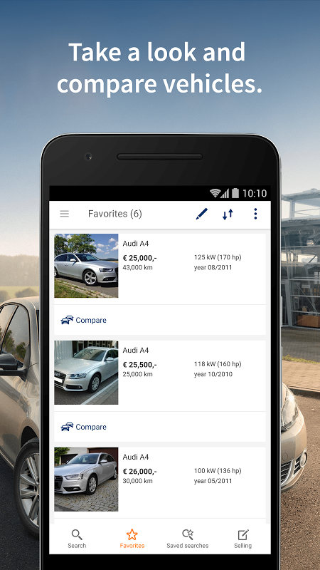 Android AutoScout24 - used car finder Screen 1