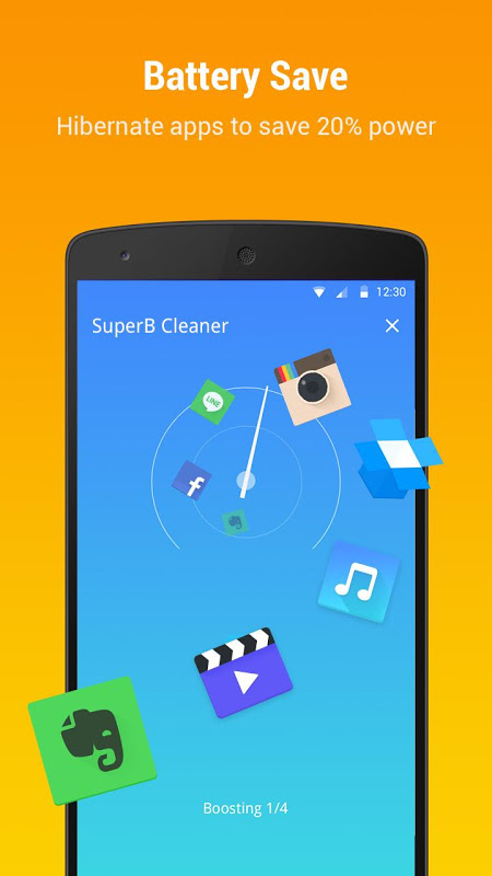 Android SuperB Cleaner - Boost, Clean & APP LOCK Screen 2