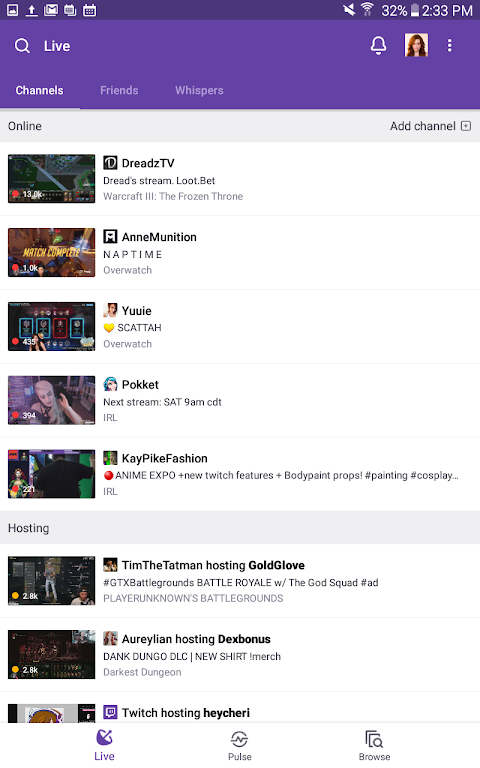 Twitch 4.5.5 Screen 1