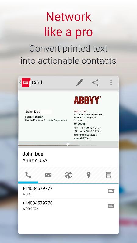 Business Card Reader Pro - Business Card Scanner 4.7.621 Screen 3