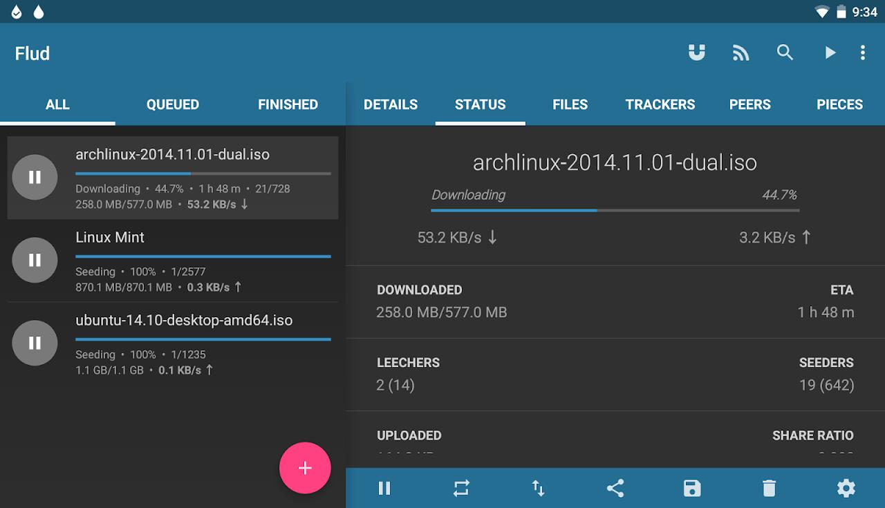 Flud - Torrent Downloader 1.6.6 Screen 5