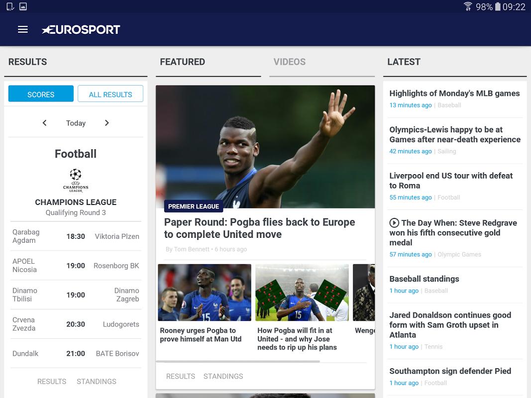 Android Eurosport Screen 6