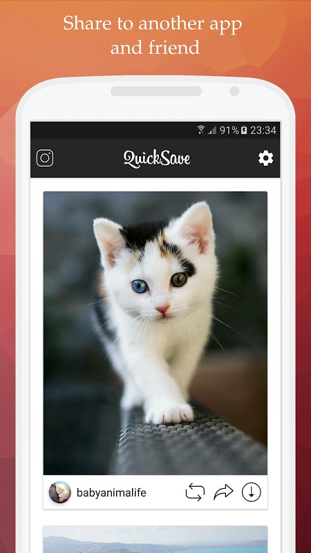 QuickSave for Instagram 2.2.9 Screen 2