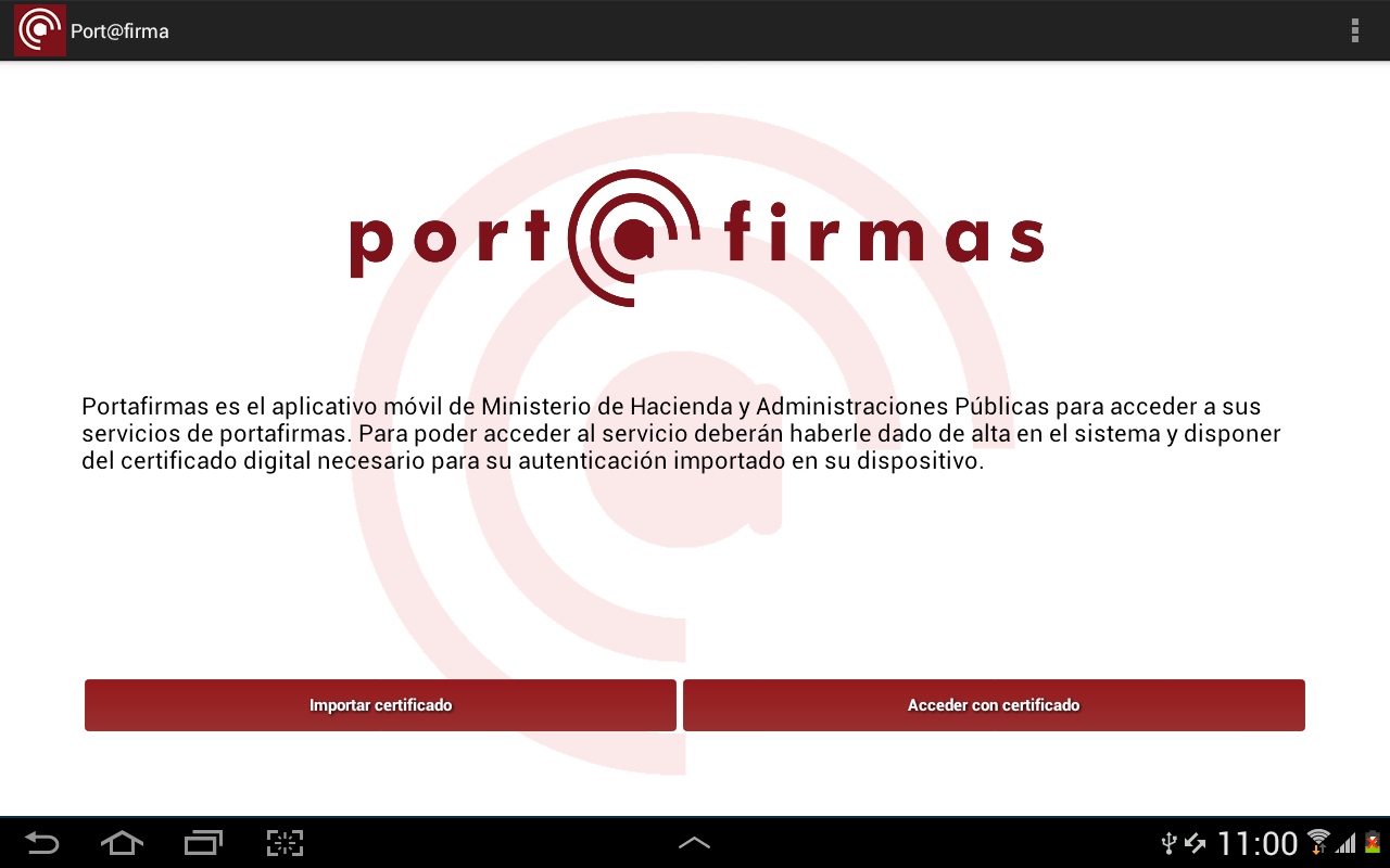 Port@firmas movil 1.3.3 Screen 3