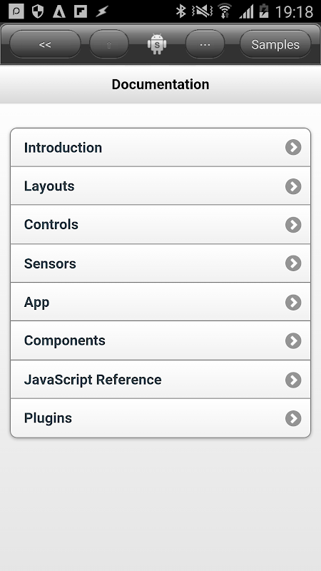 DroidScript - JavaScript Mobile Coding IDE 1.68 Screen 3