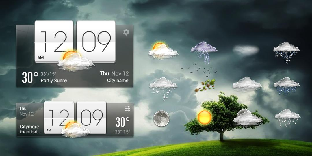 Sense Flip Clock & Weather 8.3.2.1058_release Screen 1