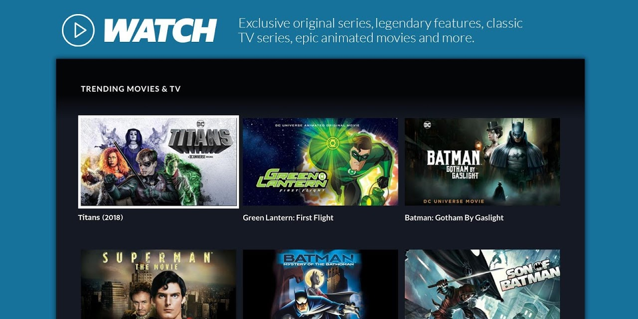 Android DC Universe - Android TV Screen 10