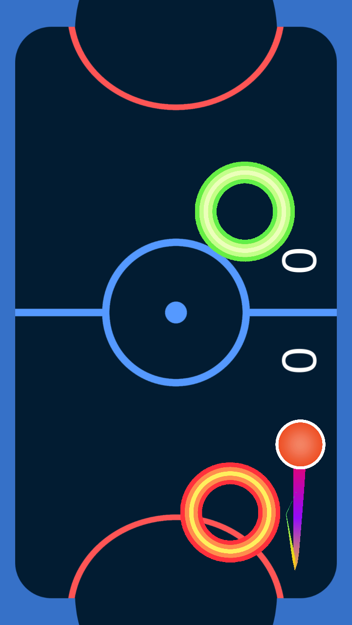 Android Glow Air Hockey Screen 2