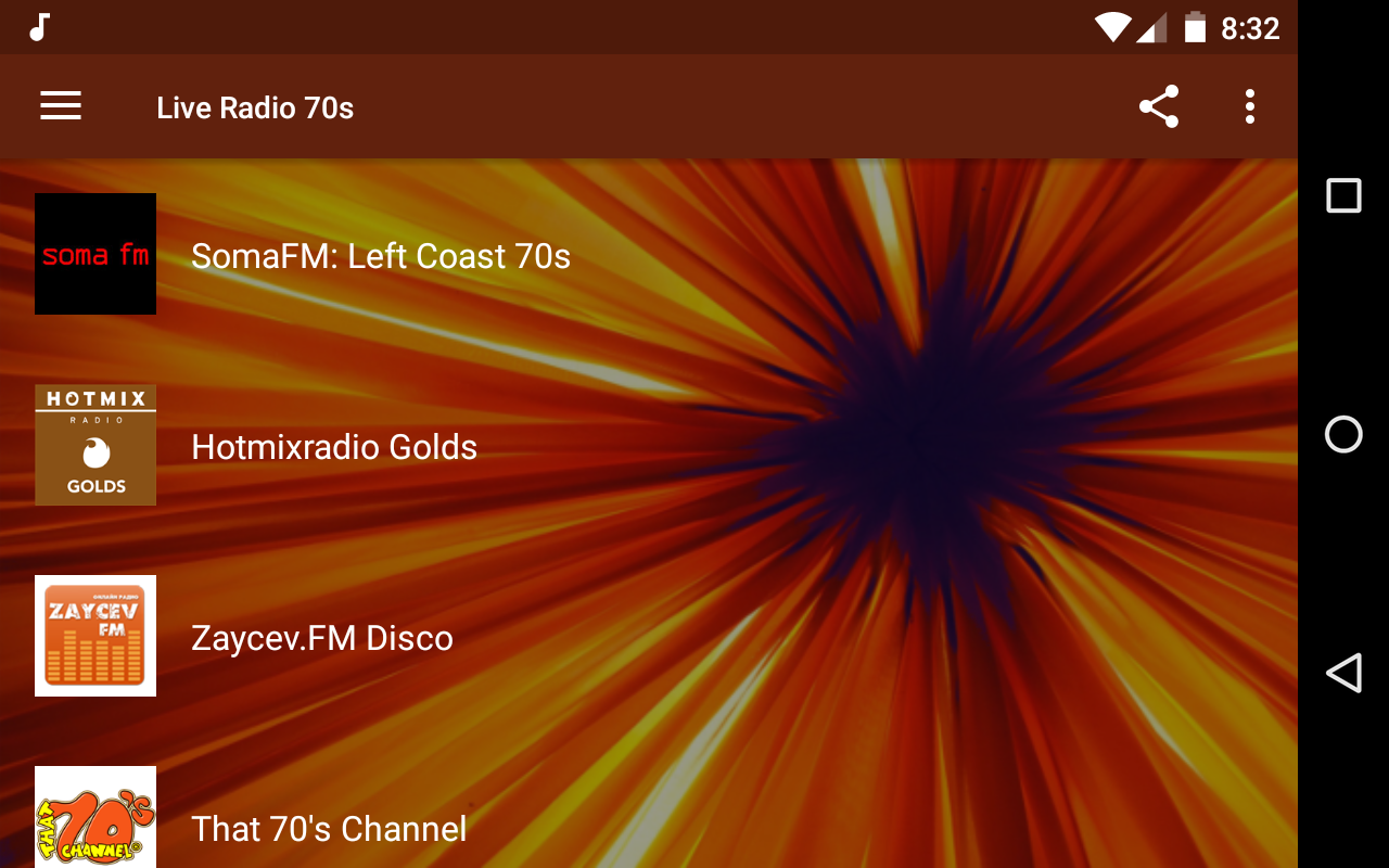 Android Live Radio 70s Screen 4