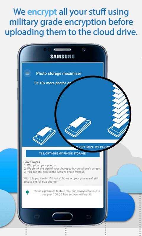 Android 100GB Free Cloud Storage Degoo Screen 3