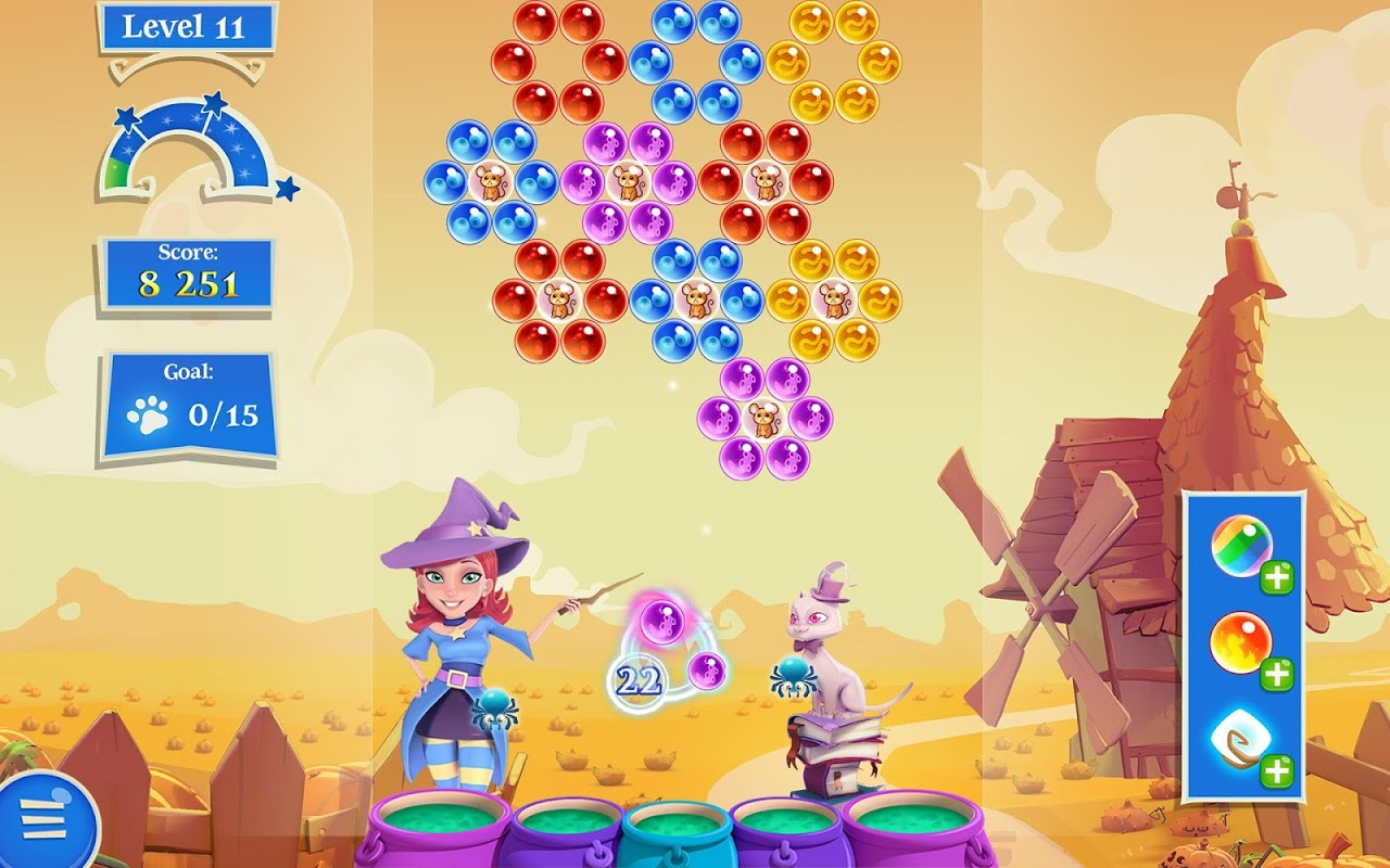 Android Bubble Witch 2 Saga Screen 17