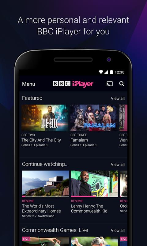 Android BBC iPlayer Screen 2