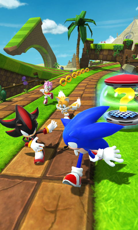 Android Sonic Forces: Speed Battle Screen 1