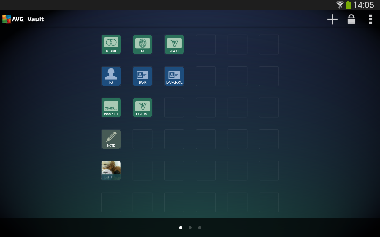Android AVG Vault Screen 1