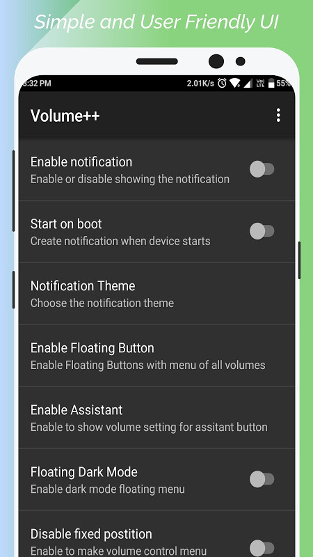 Android Volume++ (Change volume from Notification) Screen 2