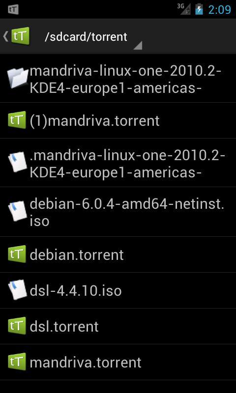 Android tTorrent Pro - Torrent Client Screen 3