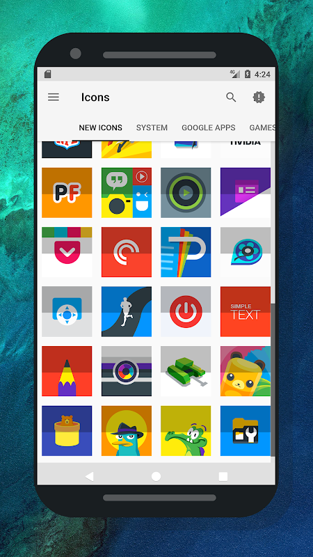 Nougat Square - Icon Pack 1.3.8.1 Screen 3