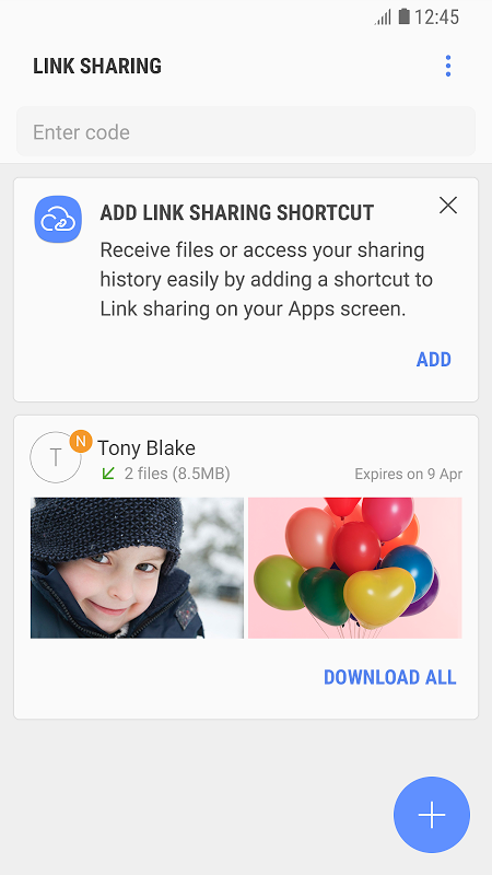 Link Sharing 3.3.12.1 Screen 1
