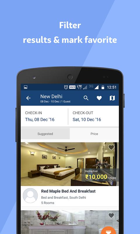 Android Travelguru Homestays Screen 1