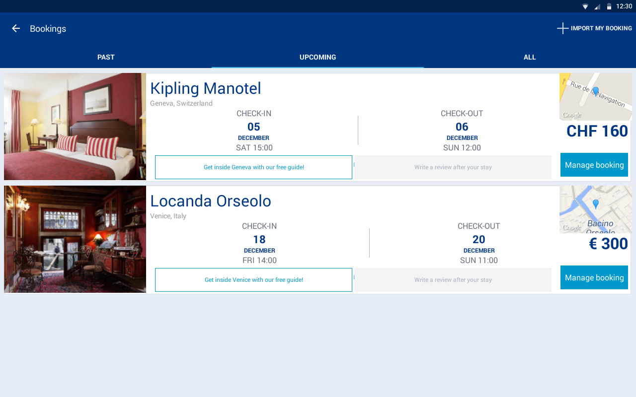 Android Booking.com Hotel Reservations Screen 5