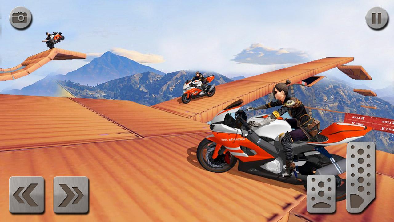 Android Impossible Mega Ramp Moto Bike Rider: Superhero 3D Screen 5